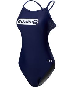 TYR Guard Women's Durafast One Crosscutfit TieBack Swimsuit-Navy-26