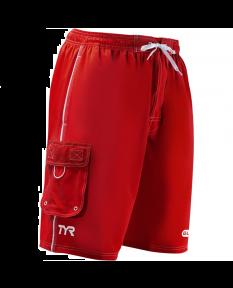 TYR Guard Men's Challenger Swim Short-Red-Small