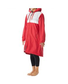 TYR Women's Alliance Podium Parka -Red-XSmall-No
