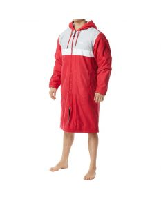 TYR Men's Alliance Podium Parka -Red-XSmall-No