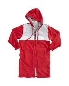 TYR Youth Alliance Podium Parka -Red-Youth Small-No