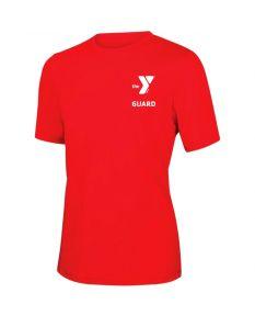 YMCA Guard Short Sleeve Rashguard-Red-XSmall