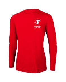 YMCA Guard Long Sleeve Rashguard 2604-Red-XSmall