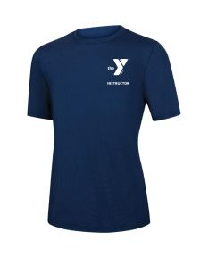 YMCA Instructor Short Sleeve Rashguard 2600-Navy-XSmall