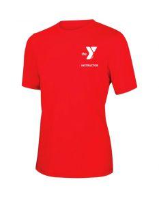 YMCA Instructor Short Sleeve Rashguard 2600-Red-XSmall