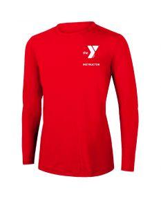 YMCA Instructor Long Sleeve Rashguard 2604-Red-XSmall