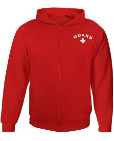 RISE Guard Zip Hoodie - Color - Red,Size - Medium