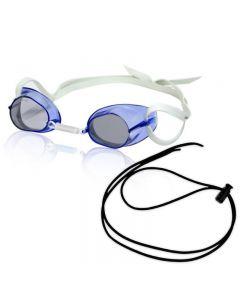 RISE Swedish Pro Mirrored Goggle w/ Black Bungee - Color - Blue