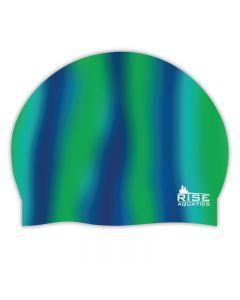 RISE Aquatics Team Tie-Dye Silicone Cap
