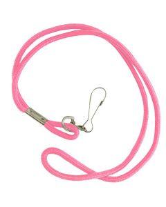 Nylon Neck Lanyard - Color - Pink