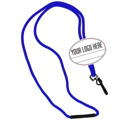 Oval Name Tag Breakaway Lanyard-Royal