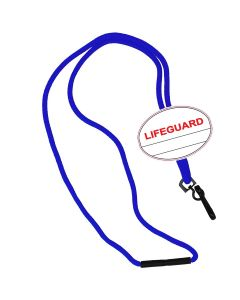 Lifeguard Oval Name Tag Breakaway Lanyard-Royal