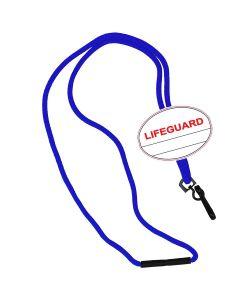 Lifeguard Oval Name Tag Breakaway Lanyard-Royal