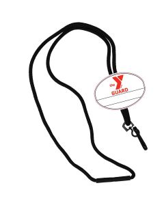 YMCA Guard Custom Name Tag Break Away Lanyard-Black