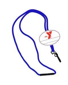 YMCA Custom Name Oval Tag Break Away Lanyard -Royal