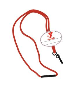 YMCA Guard Custom Name Tag Break Away Lanyard-Red