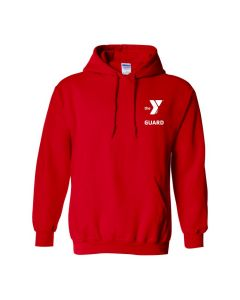YMCA Standard Guard Hooded Sweatshirt-Red-Small