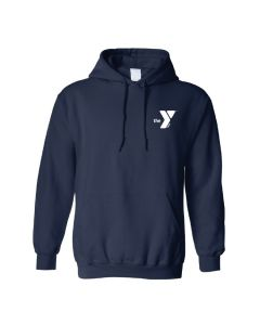 YMCA Standard Hooded Sweatshirt-Navy-Small