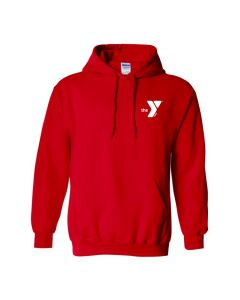 YMCA Standard Hooded Sweatshirt-Red-Small