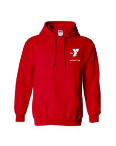 YMCA Standard Instructor Hooded Sweatshirt-Red-Small