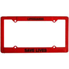 Lifeguard License Plate Frames