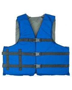 RISE Aquatics Rip Stock Adult General Purpose Life Vest -Royal-Oversize