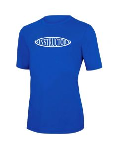 RISE Instructor Short Sleeve Crew Neck Rashguard -Royal-XSmall