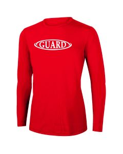RISE Guard Long Sleeve Crew Neck Rashguard-Red-XSmall
