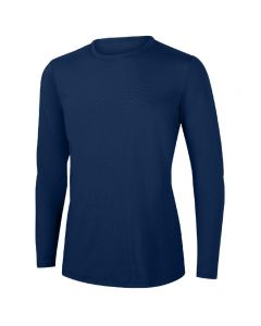 RISE Solid Long Sleeve Crew Neck Rashguard-Navy-XSmall