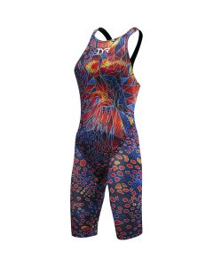 TYR Women's Venom Open Back Tech Suit Swimsuit-Black Multi-20