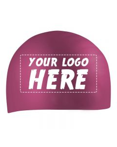 Custom Printed Silicone Caps-Maroon-1-Color Logo