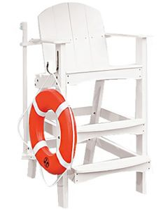 "Kiefer 40"" Forever Lifeguard Plastic Chair"
