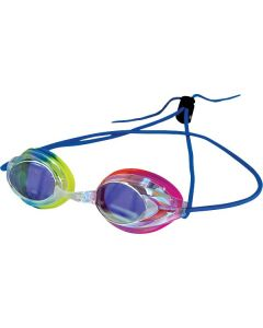 Kiefer Vivid Bungee Swim Goggle-Rainbow/Blue