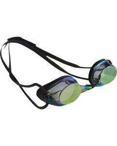 Kiefer Elite Mirrored Performance Swim Goggles-Black/Blue