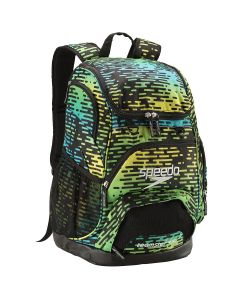 Printed Teamster Backpack (35L) -Blue-No