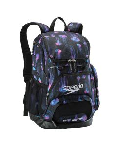 Printed Teamster Backpack (35L) -Blue/Black-No