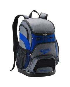 Printed Teamster Backpack (35L) -Heather Grey/Blue-No