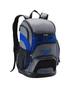 Printed Teamster Backpack (35L) -Heather Grey/Blue-No
