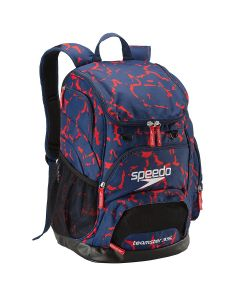 Printed Teamster Backpack (35L) -Red/White/Blue-No
