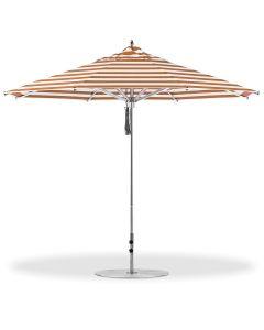 Greenwich 11' Octagon Umbrella-Orange Stripe-Standard: Vertex