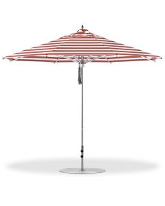Greenwich 11' Octagon Umbrella-Red Stripe-Standard: Vertex