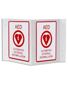 AED V-Shaped Wall Sign