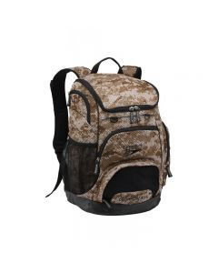 Speedo Large 35L Teamster Backpack-Camo Mesh Grey-Yes