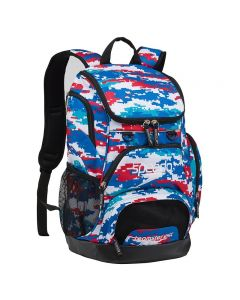 Speedo Medium 25L Teamster Backpack-Digi Camo Red/White/Blue-Yes