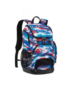 Speedo Large 35L Teamster Backpack-Digi Camo Red/White/Blue-Yes
