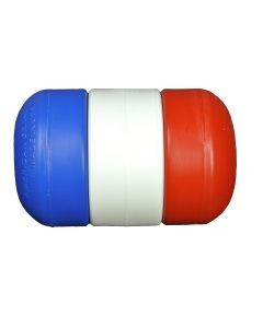 """3"""" x 5"""" Rope Float 3/8"""" Dia.-Red/White/Blue"""