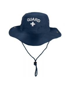 RISE Guard Safari Hat Color - Navy-White Embroidery