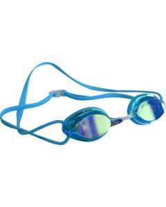 Kiefer Elite Mirrored Performance Swim Goggles-Blue/Blue