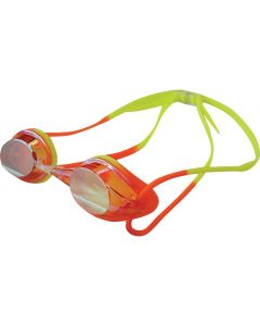 Kiefer Junior Elite Mirrored Performance Swim Goggles-Orange/Yellow