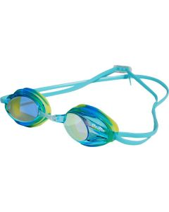Kiefer Junior Express Mirrored Performance Swim Goggles-Blue/Blue